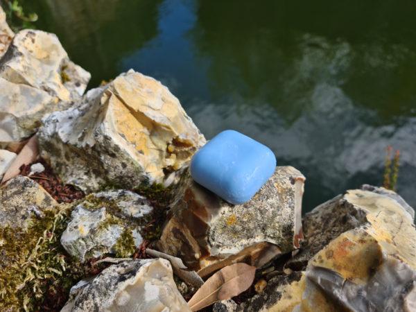 Savon solide surgras saponifié à froid Aigue marine