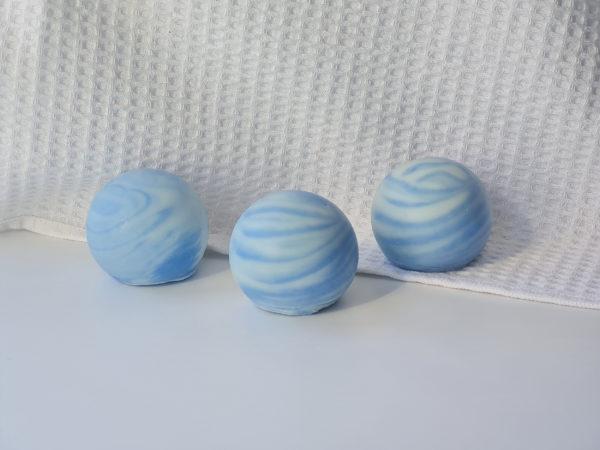 Savons Neptune artisanal série Planètes savonnerie Les Bulles de Marine Bretagne